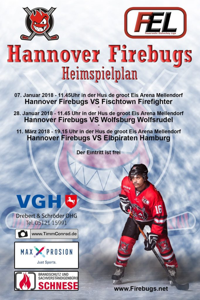 Heimspiele Hannover Firebugs 2017/2018
